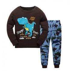 Πυτζάμα Με Δεινόσαυρους Για Παιδιά - Σετ Βαμβακερή Παιδική Πιτζάμα για  Αγόρια και Κορίτσια 34cbc6da8bf