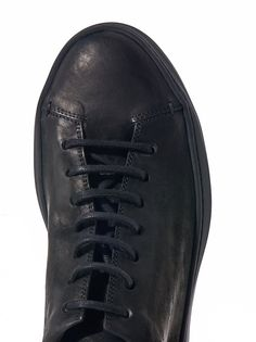 THE LAST CONSPIRACY - Low Top Leather Sneaker - TLC1484 BENI MAT BLACK - H. Lorenzo