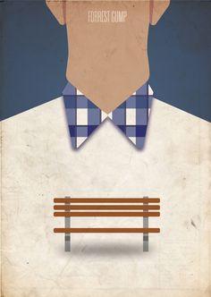 Forrest Gump (1994) ~ Minimal Movie Poster by Truica Madalin #amusementphile