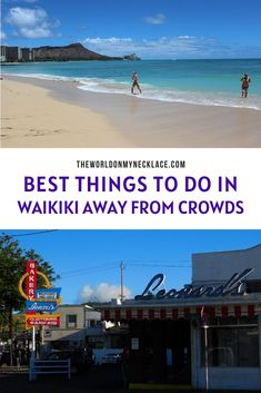Waikiki is always busy and popular with tourists so it can feel overwhelming at times. Luckily there are lots of fun things to do in Waikiki to escape the crowds, including quiet beaches, local food spots, secret gardens and more. Find out the best things to do in Waikiki to get away from the crowds. | The World on my Necklace Travel Articles, Travel Info, Usa Travel, Travel Tips, Usa Places To Visit, Hawaii Travel Guide, Hawaii Honeymoon, Secret Gardens, Things To Do In London