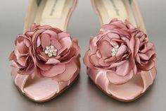 Wedding Shoes Antique Pink Wedding Shoes por DesignYourPedestal, $250.00