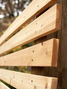 Privacy Panel:  To get privacy without resorting to a heavy, light-blocking wall, the homeowner/designer created these wood panels to separate his yard from the neighbors'. Here's how to make them yourself: