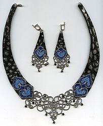 "Exclusive sets with a leather, lace ""frivolite"":: A lace ""frivolite"" of Elena Ignatova, master of folk creation, Ukraine, Kharkov :: Jewelle..."