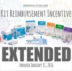 I am looking to expand my business! R+F has extended the kit reimbursement incentive! Not convinced? We also have a 60 day money back (empty bottle) guarantee. Why not now? Let's fall into great skin!    mjohnson17.myrandf.biz/