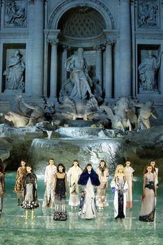 An enchanting fairytale collection showcased on Rome's Trevi Fountain