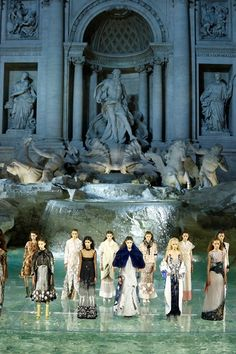 Brilliant backdrop for the Fendi Fashion Show in Rome's - Trevi Fountain