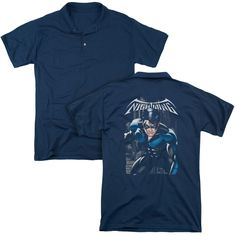BATMAN/A LEGACY (BACK PRINT) - MENS REGULAR FIT POLO-NAVY