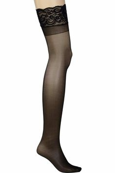 caf929253 Plus Size Lace Top Sheer Thigh High Stockings available up to
