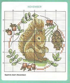 November Cross Stitch Chart