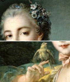 The Athenaeum - Portrait of Madame Baudouin, Details. by Francois Boucher, (1703-1770)