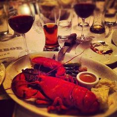 Steak and Lobster with garlic mashed potatoes at Fog Harbor Fish House