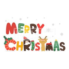 [ILL117] 타이포 그래픽 018 Happy Merry Christmas, Christmas Fonts, Christmas Images, Christmas Signs, Christmas Printables, Christmas Time, Christmas Crafts, Christmas Decorations, Xmax