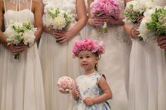 How cute is the flowergirl's bouquet?! It looks like an over-sized lollipop :)