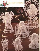 My handmade Angels crochet 1 some in english some not. Crochet Angel Pattern, Crochet Angels, Crochet Motifs, Thread Crochet, Crochet Crafts, Yarn Crafts, Crochet Projects, Crochet Patterns, Crochet Christmas Ornaments
