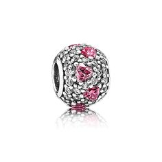 Sparkling lights and dazzling hearts make up the  Shimmering Heart Charm, $70.00 @ Pandora MOA (http://www.pandoramoa.com/shimmering-heart-charm/)