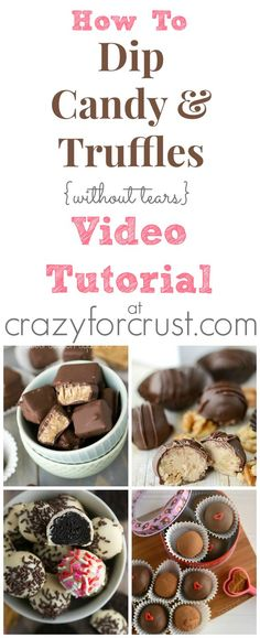 How To Dip Candy and Truffles Video Tutorial at crazyforcrust.com | Learn some dipping tricks so you can make candy without tears! @Crazy for Crust: