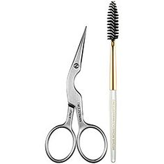 Tweezerman - Brow Shaping Scissors & Brush. An expert duo featuring professional-quality, stainless steel scissors and a spiral brow brush.
