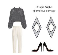 """Magic Night !!"" by sfkaterina on Polyvore featuring Khaite and Christian Louboutin"