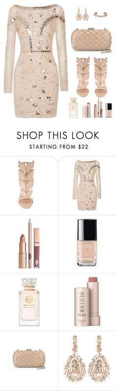 """formal event"" by allyxxoo ❤ liked on Polyvore featuring Giuseppe Zanotti, Temperley London, Chanel, Tory Burch, Fresh, Sergio Rossi, Suzanne Kalan and Repossi"