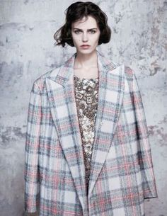 Oversized checked coat, Stella McCartney