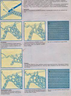 Horgolás alapok - A kreatív emberek oldala Crochet Stitches, Blog, Diy, Decor, Creativity, Scrappy Quilts, Tejidos, Decoration, Bricolage