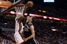 LeBron James' huge block on Tiago Splitter in slow motion, from all angles, in awesome photos   Ball Don't Lie - Yahoo! Sports #sports #block #lebron #miami
