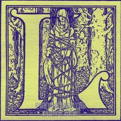 Illuminated letter L from The Romance of Tristram and Iseult . Illustration by Maurice Lalau . Published 1910 . stock photo