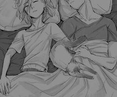 Yuri&Beka sleeping with Potya♥