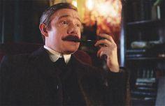 SHERLOCK (BBC) ~ Martin Freeman as John Watson in the pre-Season 4 special SHERLOCK: THE ABOMINABLE BRIDE.