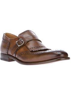 HENDERSON FUSION fringed monk strap shoe