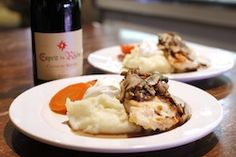 $25 Dinner for 2 and Bottle of WIne Selland's Special: Roasted Chicken Marsala with Mashed Potatoes and Buttered Carrot with a Rhone Red Blend.