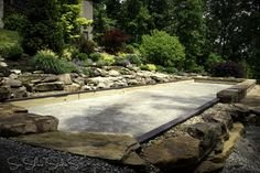 Natural Stone Bocce Court