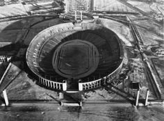 1945 - Berlin Olympic Stadium: The massive oval structure designed by architect Werner March, which for the 1936 Summer Olympics. Read more: http://histomil.com/viewtopic.php?f=338&t=3918&start=1900#ixzz3TC1wai1P