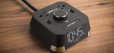 The CubieTime Alarm Clock - Brandstand Products - Hotel Power Outlets and USB Charging Ports with Single Day Alarm