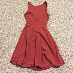 Maroon skater dress Burgundy colored dress from Hollister. New without tags. Size Small. Hollister Dresses Mini