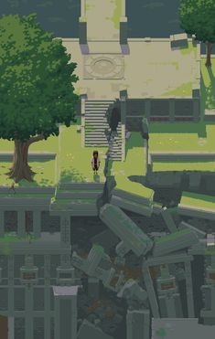 Crumbled ruins by NostalgicTree aesthetic gif Crumbled ruins by NostalgicTree on DeviantArt Piskel Art, Pix Art, Pixel Art Background, Cool Pixel Art, 2d Game Art, Pixel Animation, Pixel Art Games, Gif Animé, Environment Concept Art