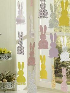 guirlande paques lapins papier