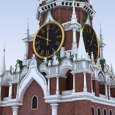 Moscow Kremlin Spasskaya Clock Tower