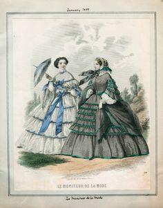 ì Le Moniteur de la Mode, January 1859.