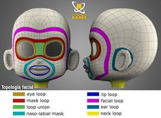 I love this Topology reference. However I needed to translate it. 3d Model Character, Character Modeling, Character Creation, Simple Character, Character Concept, Zbrush, Maya Modeling, Modeling Tips, Computer Animation