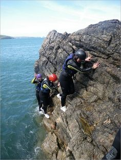 Cliff Jumping Locations, Coasteering in Pembrokeshire, Wales. Adventure Travel Post about Coasteering and some great Cliff Jumping Locations along the coast Cliff Diving, Cliff Jump, Pembrokeshire Wales, Visit Wales, Kayaking, Canoeing, Adventure Travel, Adventure Time, Months In A Year