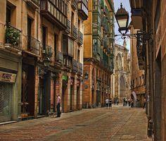 A street in Bilbao, Spain...I want to live in Bilbao...a dream of mine.