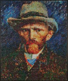Bradley Hart est un artiste canadien. L'artiste utilise du papier à bulle pour réaliser ces œuvres. Pour cela, il remplit chaque bulle de peinture afin de reproduire les grands classiques de la peinture comme la Joconde de Léonard de Vinci ou encore la Jeune Fille à la perle de Johannes Vermeer.