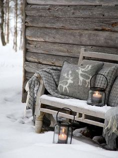 How to Adopt Nordic Hygge and Cozy Up Your Home - 31 Daily Winter Love, Cozy Winter, Winter Snow, Winter Cabin, Winter White, Snow Cabin, Winter Light, Winter Style, Snow White