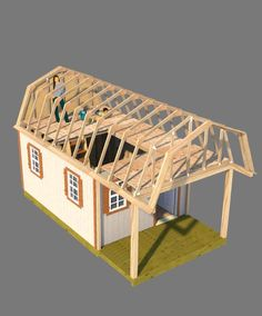 This 12x16 barn shed with front porch has a huge loft and can be arranged in alot of different ways.