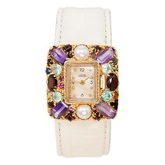 1stdibs - LUCIEN PICCARD Yellow Gold Gem-Set Wristwatch circa 1960s explore items from 1,700  global dealers at 1stdibs.com