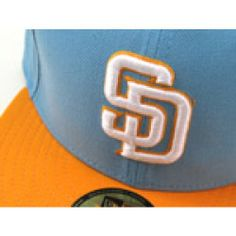 353de5ae825 Padres hat is done in the San Diego Chargers throwback colors of Baby Blue  and Yellow.