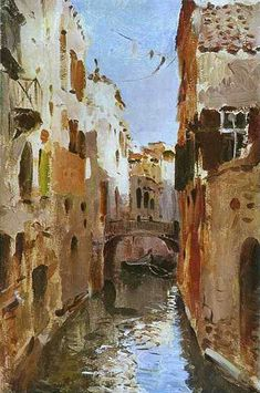 Canal In Venice: 1890, by Isaac Levitan