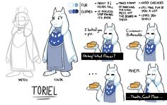Toriel Reference Sheet by The-PaperNES-Guy on @DeviantArt