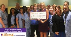 The renowned burn unit at Parkland Hospital received $4,000 through the 2016 I Give for Parkland employee campaign for equipment that will aid in improving the experience of patients undergoing wound care. Like this post to thank our burn staff for their incredible work and employee donors for their generosity!